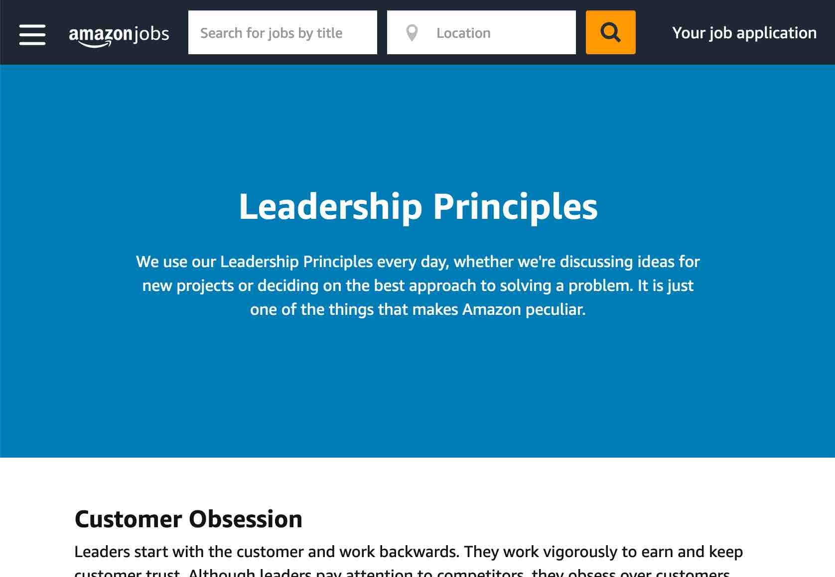 Amazon's Leadership Principles