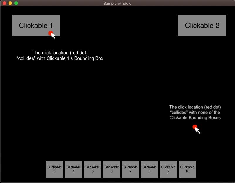 Clickable GUI